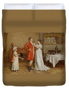 I Wish You Luck Duvet Cover by George Goodwin Kilburne