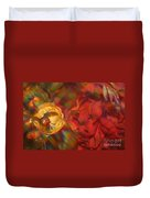 Impressionistic Bouquet Of Red Flowers Duvet Cover