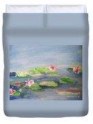 Impressionistic Lilies Monet Duvet Cover