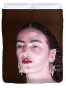 In The Eyes Of Beauty - Frida Duvet Cover