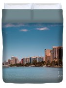 Indian Creek Canal Millionaires Row Duvet Cover