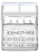 Inquiry Into The Loss Of The Titanic Cross Sections Of The Ship  Duvet Cover