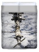 International Space Station Duvet Cover by Anonymous