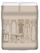 Islamic And Moorish Design For Shutters And Divans Duvet Cover by Jean Francois Albanis de Beaumont