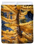 Larch Tree Closeup Duvet Cover