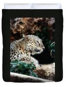 Leopard Watching It's Prey Duvet Cover
