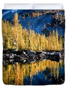 Leprechaun Lake Larches Duvet Cover