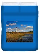 Lighthouse At The Water Duvet Cover