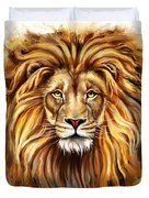 Lion Head In Front Duvet Cover