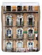 Lisbon - 18th Century Facade  Duvet Cover