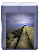 Ludington  Light House Michigan Duvet Cover