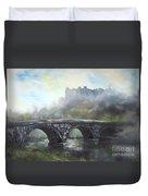 Ludlow Castle In A Mist Duvet Cover