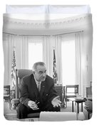 Lyndon Baines Johnson 1908-1973 36th President Of The United States In Talks With Civil Rights  Duvet Cover by Anonymous