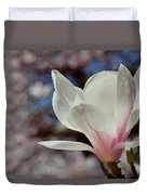 Magnolia Flowers In Spring Time Duvet Cover
