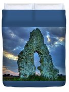 Midley Church Ruins At Dusk Duvet Cover