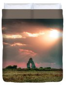Midley Church Ruins At Sunset Duvet Cover