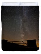 Milky Way Behind The Gate Duvet Cover
