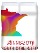 Minnesota State Map Collection 2 Duvet Cover