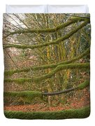 Moss-covered Big Leaf Maple Branches Duvet Cover
