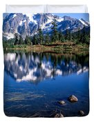 Mt. Shuksan Reflected In Picture Lake Duvet Cover