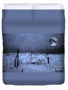Native American Full Moon Treat The Earth Well Duvet Cover