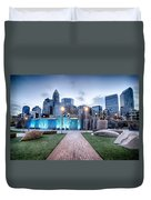 New Romare-bearden Park In Uptown Charlotte North Carolina Earl Duvet Cover