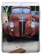 Old Old Car Duvet Cover