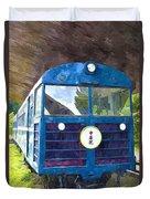 Old Train Duvet Cover