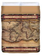 Ortelius World Map -typvs Orbis Terrarvm - 1570 Duvet Cover