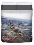 P47- D-day Train Busters Duvet Cover