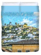 Panecillo Hill Quito	 Duvet Cover