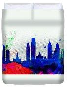 Philadelphia City Skyline Duvet Cover