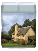 Picturesque Thatched Roof Cottage In Selworthy Duvet Cover