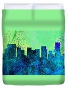 Portland City Skyline Duvet Cover
