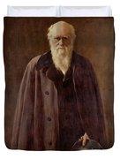 Portrait Of Charles Darwin Duvet Cover by John Collier