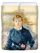 Portrait Of Louise Riesener Duvet Cover by Berthe Morisot