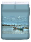 Ready For A Night Fishing Duvet Cover