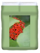 Red Butterfly Buds By Jammer Duvet Cover