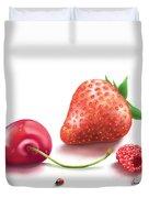 Red Fruits Duvet Cover