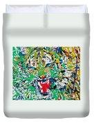 Roaring Enamel Tiger Duvet Cover