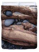 Rocks  In Driftwood Duvet Cover