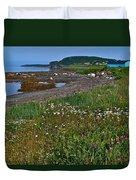 Rocky Harbour In Gros Morne Np-nl Duvet Cover