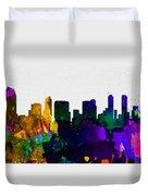 San Diego City Skyline Duvet Cover