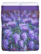 Scented Lilacs Bouquet Duvet Cover
