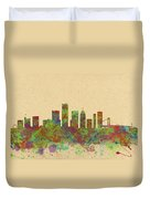 Skyline Of Detroit Usa Duvet Cover