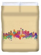 Skyline Of Seattle  Usa Duvet Cover