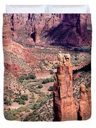 Spider Rock In Canyon De Chelly Duvet Cover