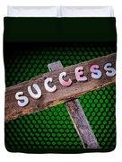 Success Sign Post Duvet Cover