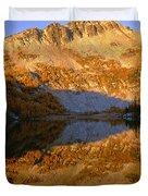 Switchback Peak On Cooney Lake Duvet Cover