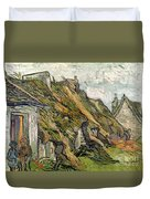 Thatched Cottages In Chaponval Duvet Cover